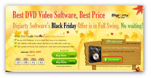 WinX DVD Ripper Platinum Black Friday