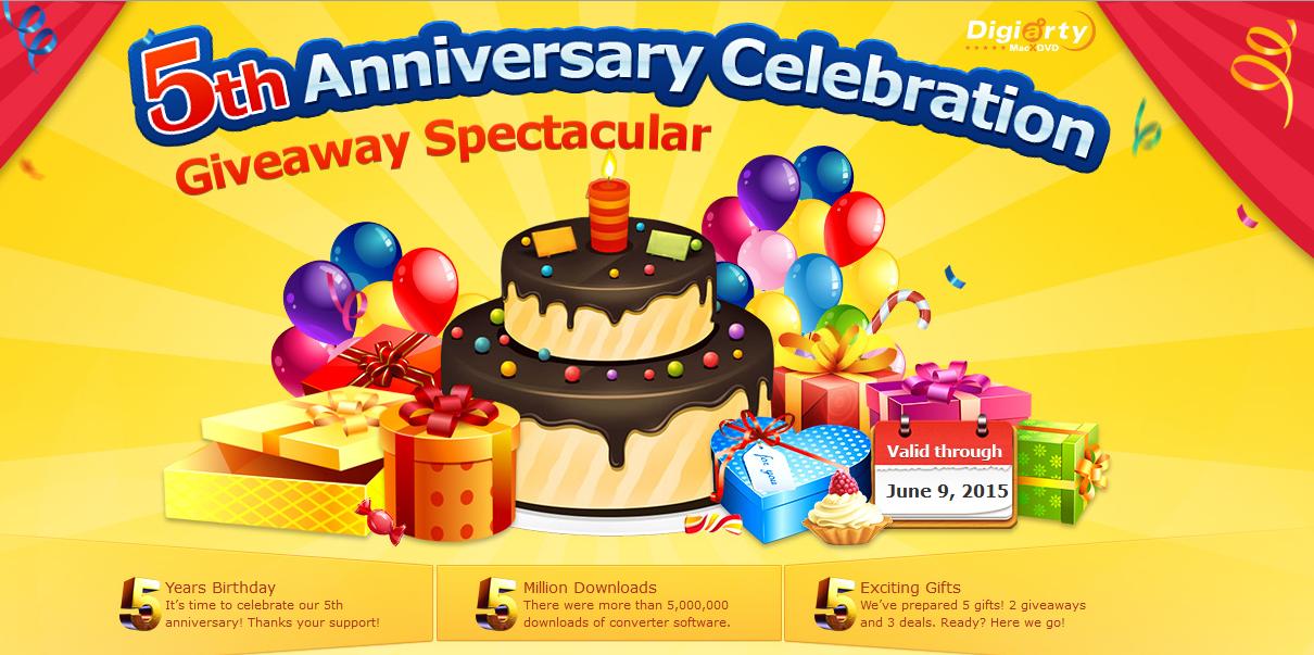 MacXDVD 5th Anniversary