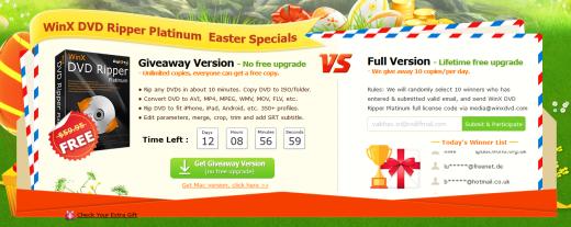 WinX DVD Ripper Platinum Easter