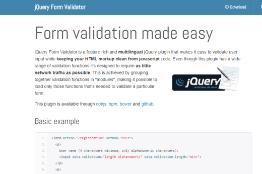 Inline Form Validation jQuery Plugin