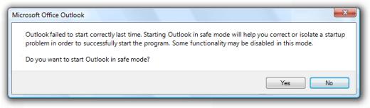 Microsoft Outlook Failed