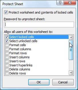 Protect Wordsheet
