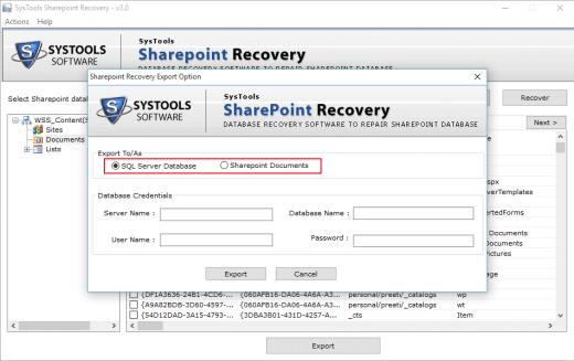 Export SharePoint Data