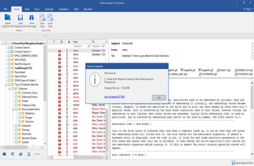 Repair corrupt PST files