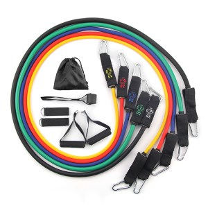 Resistance Tube Band set 5 pcs in a set with Free Carrying Bag