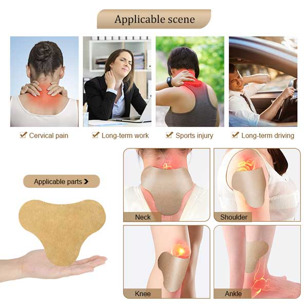 Cervical neck pain relief patch