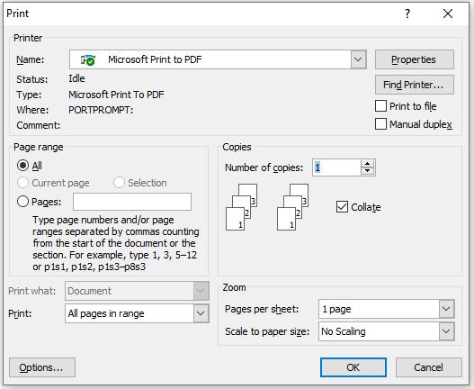 print mail merge
