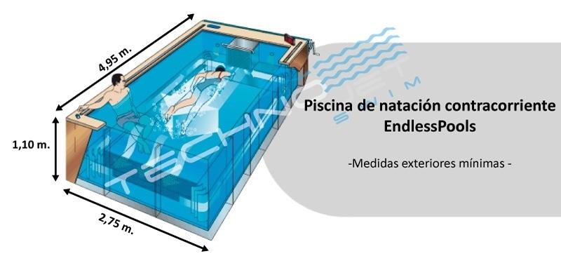 Una piscina contracorriente EndlessPools cabe en cualquier