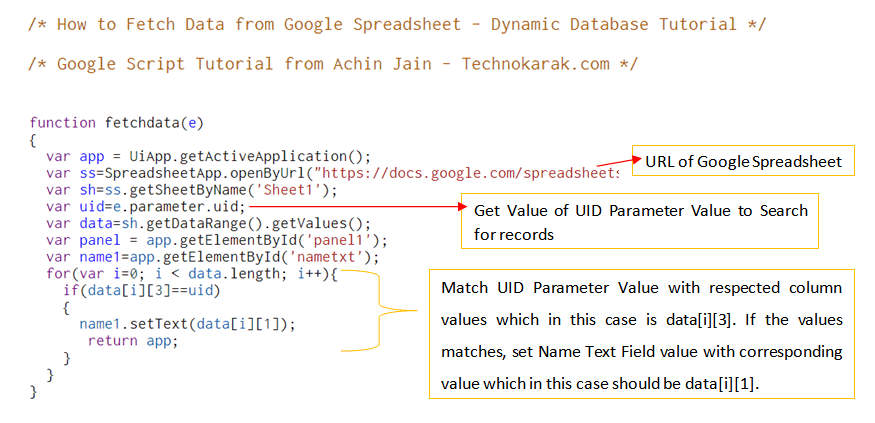 How to Fetch Data from Google Spreadsheet with Script – Dynamic ...