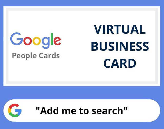Add me to Google Search Card