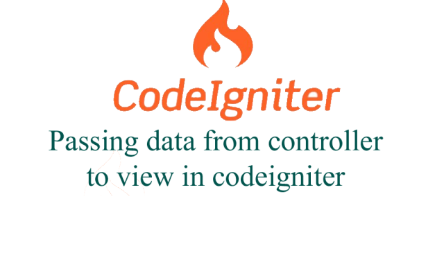 Passing data from controller to view in codeigniter