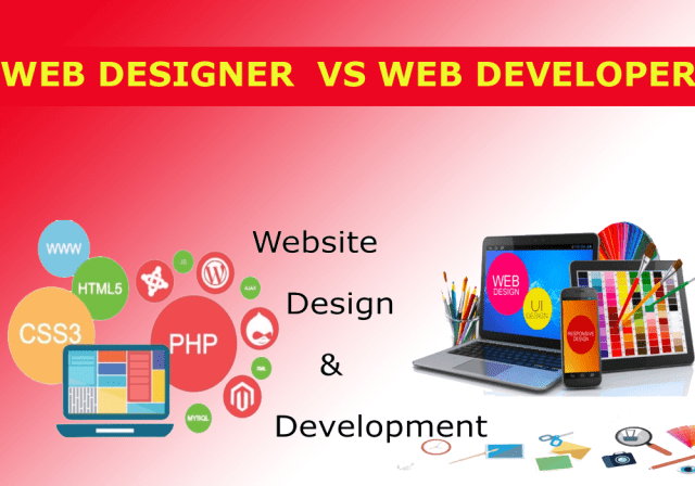 What is the difference between web development and web design?