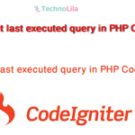 get last executed query in PHP Codeigniter