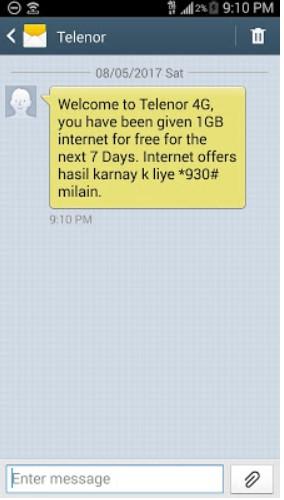 Telenor Free internet code 2018 Trick