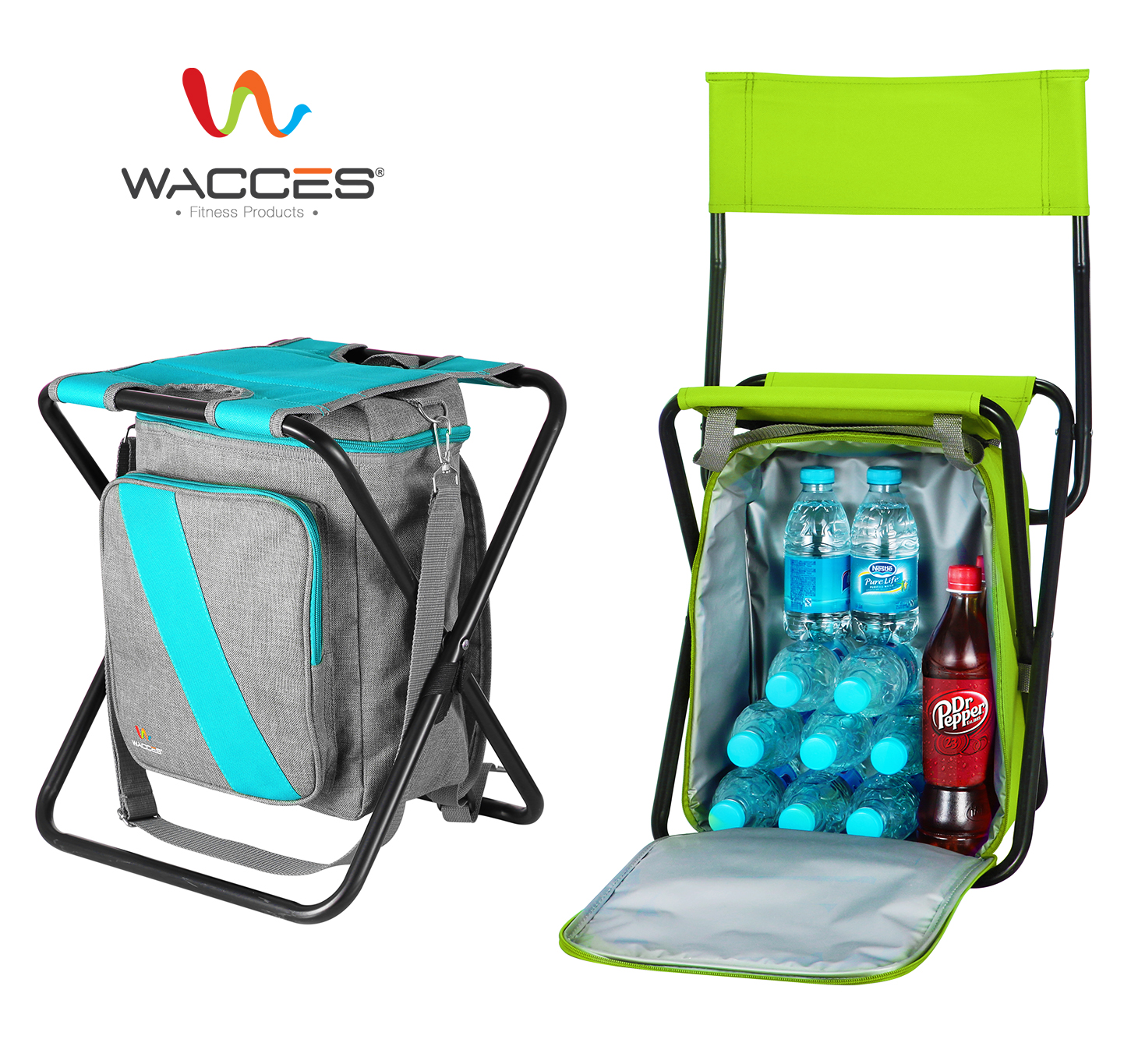 fishing chair rucksack red and blue wacces multi purpose backpack stool with cooler bag