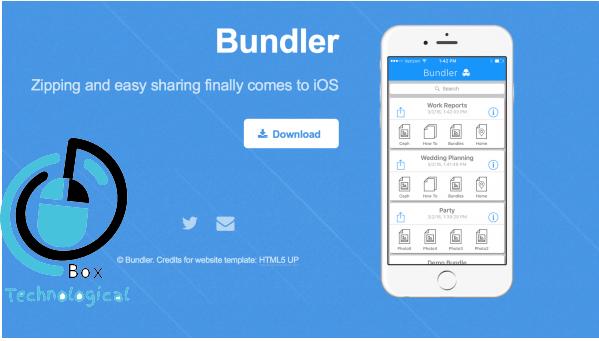 تطبيق Bundler لتجميع مختلف الملفات ومشاركتها دفعه واحده علي ايفون
