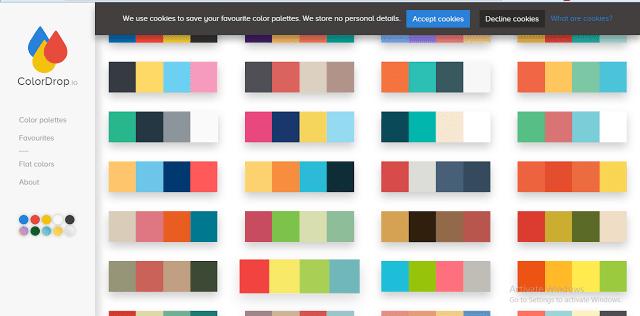 موقع ColorDrop موقع هام جدا لكل مصمم لمساعدته في اختيار الالوان