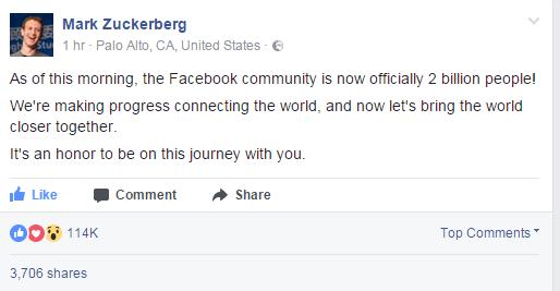 مستخدمي فيس بوك شهرياً