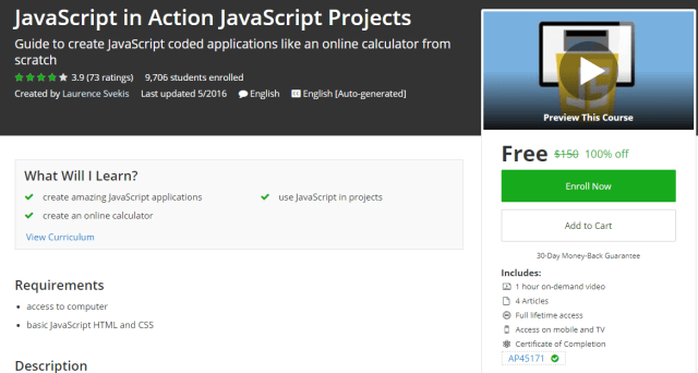 JavaScript in Action JavaScript Projects