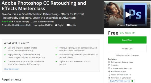 Adobe Photoshop CC Retouching and Effects Masterclass