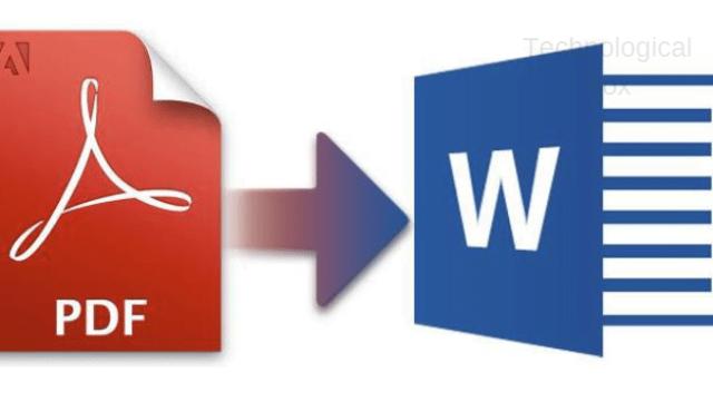 التحويل من pdf to word