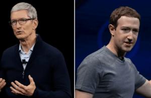 مشكلة فيس بوك مع ابل