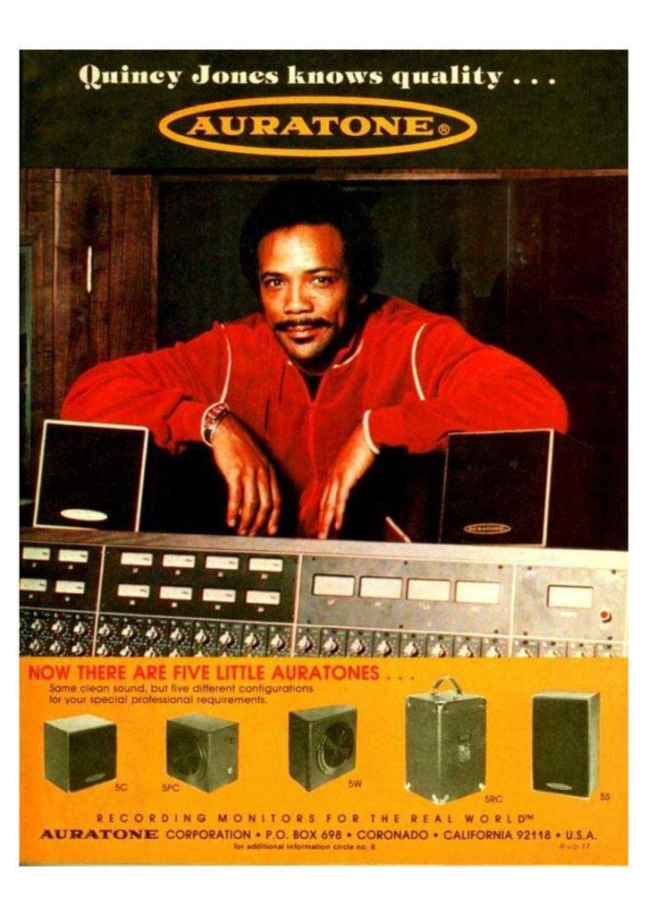 Quincy Jones et Auratone 5C