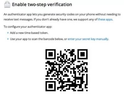 Google Authenticator Barcode