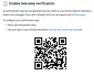 Google Authenticator Barcode