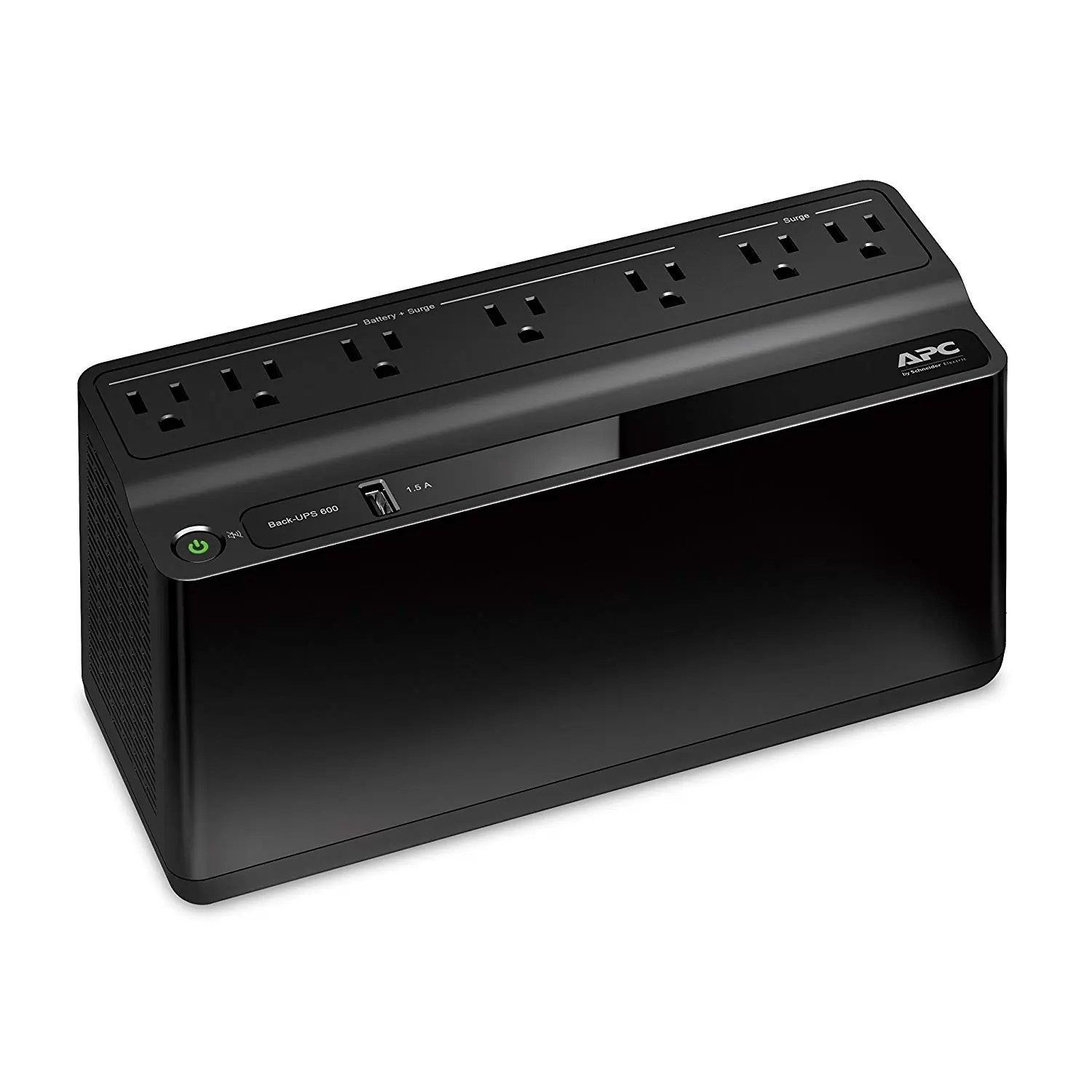 APC UPS 600VA Battery Backup Surge Protector with USB Charging Port, APC UPS BackUPS (BE600M1)