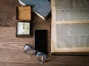 Book and iphone