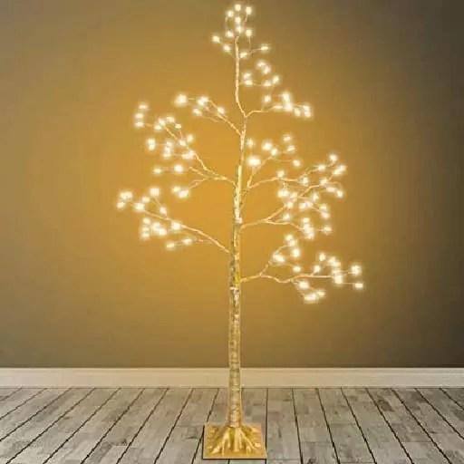 Yellow Indoor Lighted Tree