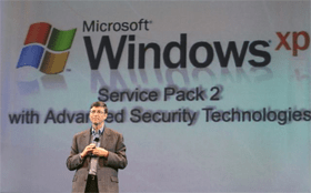 Bill Gates introduces Windows XP Service Pack 2