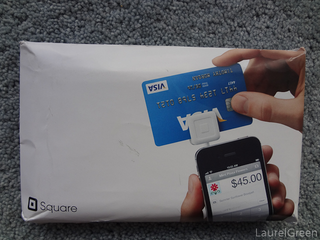 the envelope that the square card reader comes in