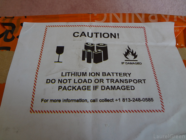 a photo of a lithium ion battery warning label