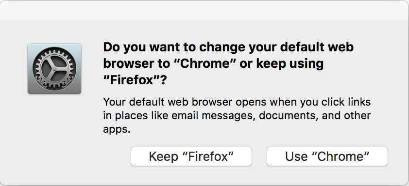 Script making Chrome the default browser on macOS – St