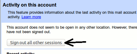 sign out gmail account from other computer