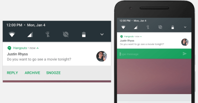 new features of google nougat