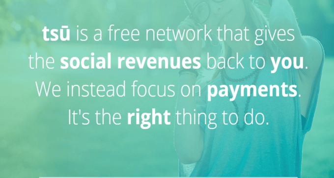 tsu - New Social Network shares revenue with users. ! (1/2)