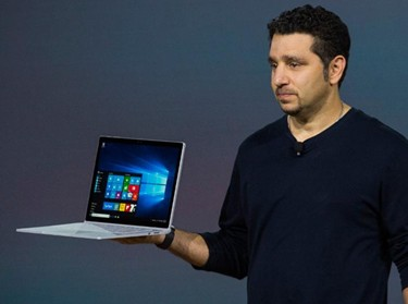 Panos Panay with the Microsoft Surface Book
