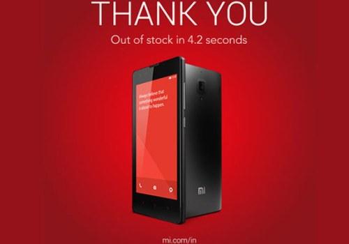 जिओमी Redmi 1S फोन ४ सेकेण्डमा ४० हजार सेट बिक्यो