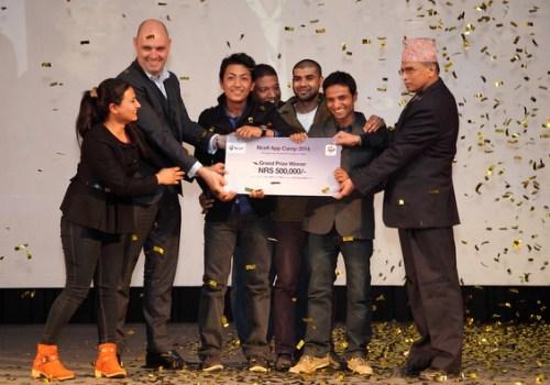 एनसेल एप क्याम्पमा आइसीटी फर एग्रिकल्चर एप विजेता