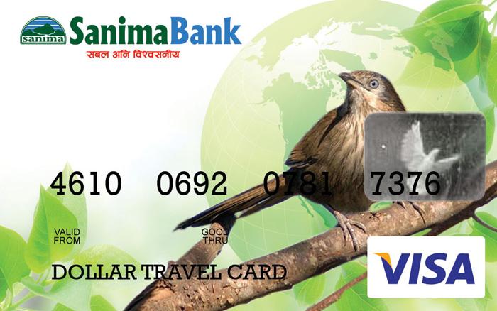 सानिमा बैंकद्वारा भिसा डलर कार्ड जारी