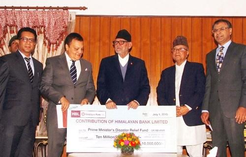 हिमालयन बैंकको राहत कोषमा २ करोड सहयोग