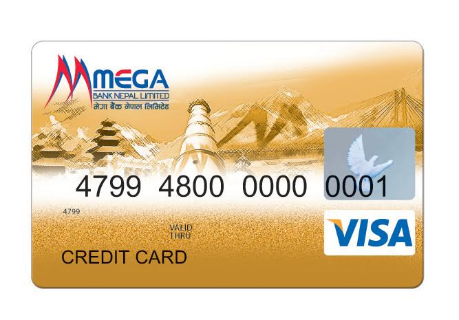 मेगा बैंकले ल्यायो 'मेगा भिसा क्रेडिट कार्ड'