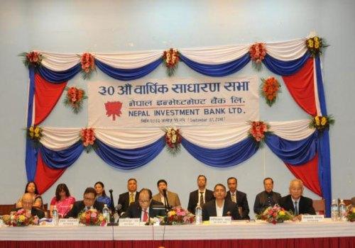 नेपाल इन्भेष्टमेण्ट बैंकको २० प्रतिशत बोनस सेयर तथा २१ प्रतिशत नगद लाभांश