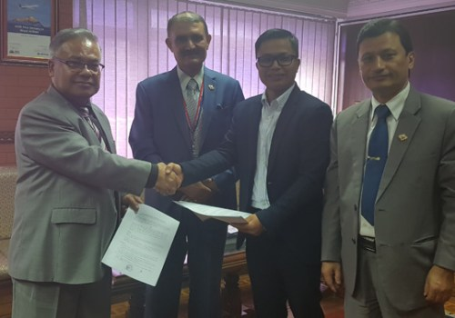 आइएमई पे र नेपाल वायुसेवा निगमवीच सम्झौता
