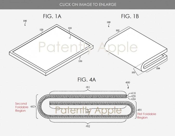 एप्पलको फोल्डेबल डिभाइसको पेटेन्ट, सामसंग ग्यालेक्सी फोल्डको डिजाइनमा