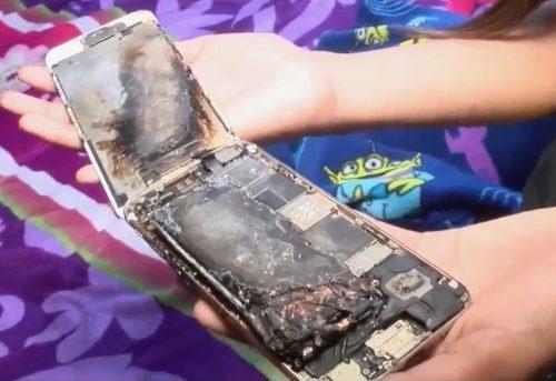 एप्पलको आइफोन सिक्स हातमै हुँदा आगो लाग्यो, प्रयोगकर्ता बालिका भने सुरक्षित