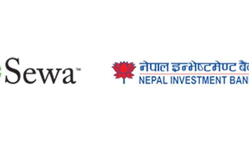 नेपाल इन्भेष्टमेन्ट बैंंक र इसेवा फोन पे बीच अनलाईन भुक्तानी सम्झौता